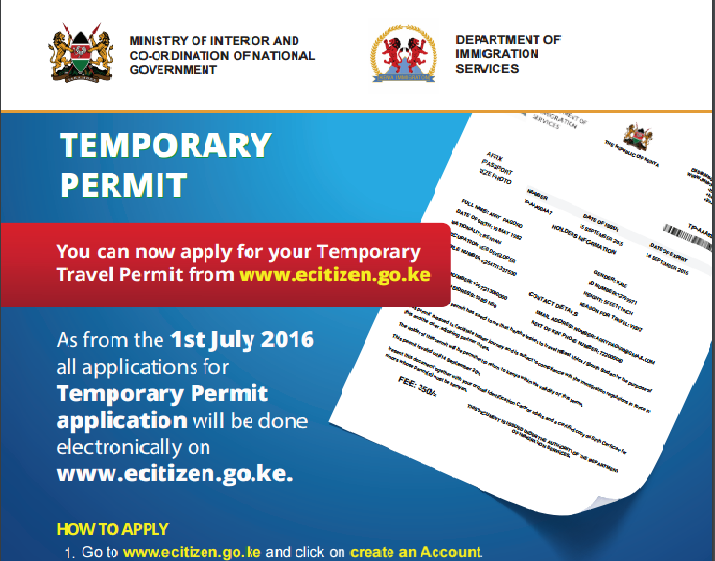 How To Apply For Temporary Travel Permit In Kenya Kenyas How To