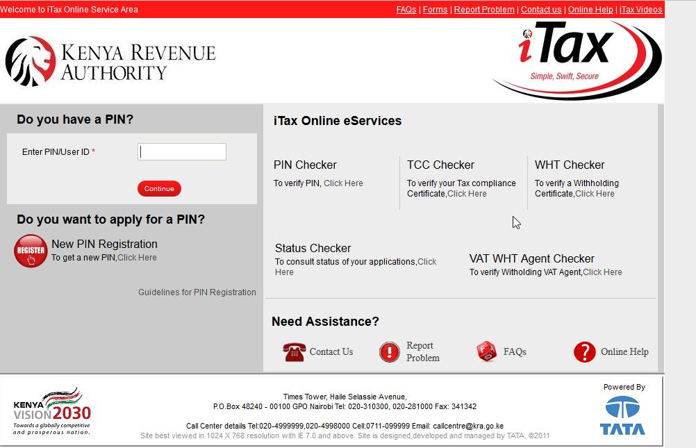 KRA PIN registration